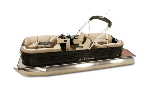Legend Pontoon Boat Black Series Lounge 2 Tube for sale in Ottawa